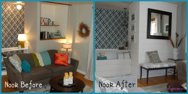 Nook Before and After