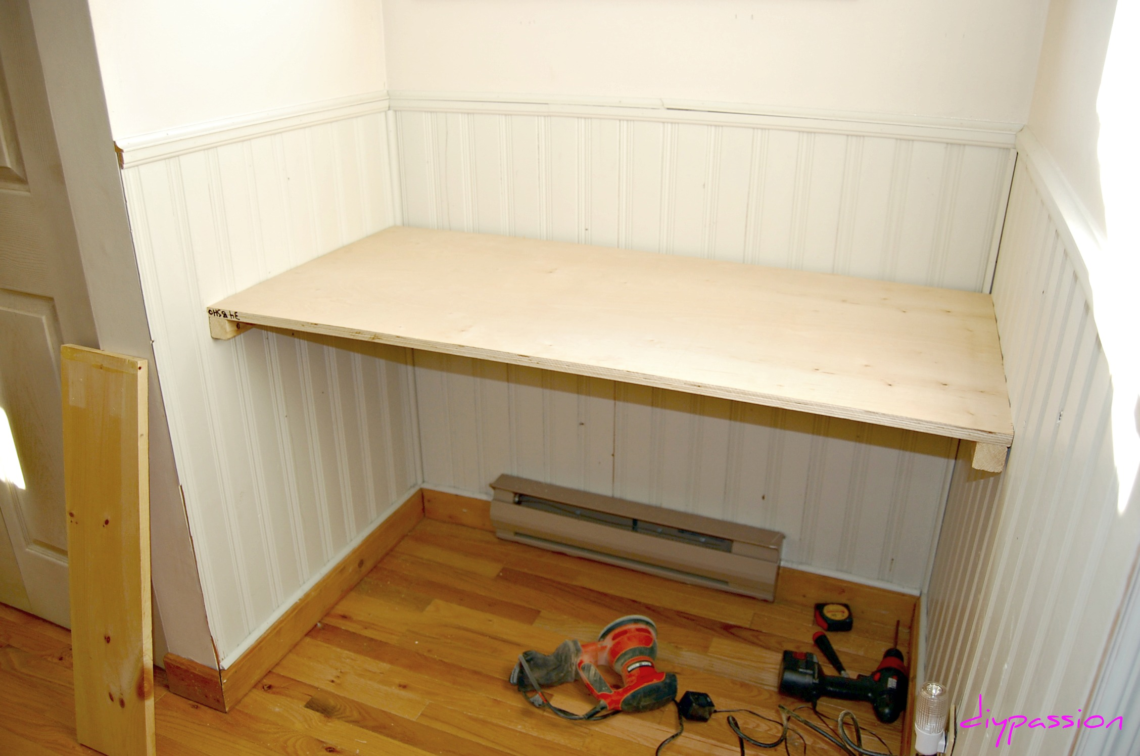 Built in desk pdf woodworking Built in desk